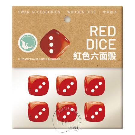 紅色六面骰-16mm-6入