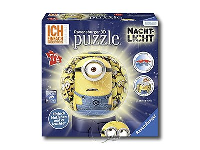 【Ravensburger-3D立體拼圖-72片】3D小小兵MIN:Minion + Lightstand