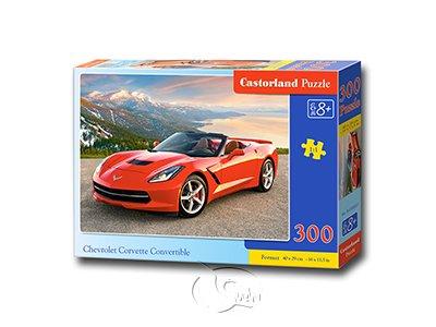 【Castorland拼圖-0300片】雪佛蘭科爾維特敞篷車Chevrolet Corvette Convertible