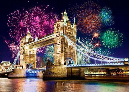 【Castorland拼圖-0500片】英國倫敦橋煙花秀Tower Bridge, England