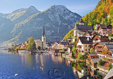【Castorland拼圖-0500片】奧地利-哈爾斯塔特Hallstatt, Austria