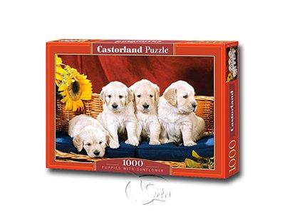 【Castorland拼圖-1000片】幼犬與向日葵Puppies With Sunflower