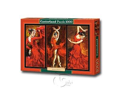 【Castorland拼圖-1000片】緋紅色舞者Crimson Dancers