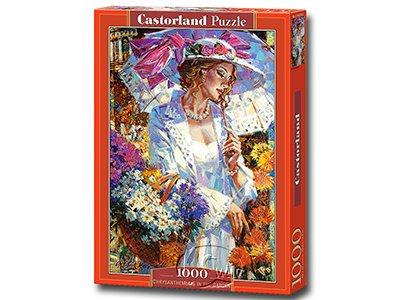 【Castorland拼圖-1000片】雛菊花中的仕女Chrysanthemums in the Garden