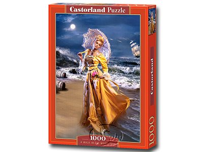 【Castorland拼圖-1000片】漫步月光下A Walk in the Moonlight