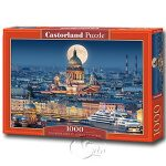【Castorland拼圖-1000片】滿月下的聖以撒大教堂Fullmoon over St. Isaac's Cathedral