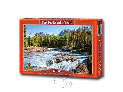 【Castorland拼圖-1500片】阿薩巴斯卡瀑布Athabasca River, Jasper National Park, Canada.