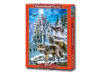 【Castorland拼圖-1500片】雪狼與城堡Wolves and Castle