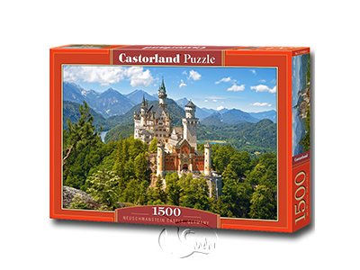 【Castorland拼圖-1500片】晴朗的新天鵝堡Neuschwanstein Castle, Germany