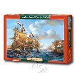 "【Castorland拼圖-2000片】1739年波爾圖貝洛戰役Copy of ?Battle of Porto Bello"""