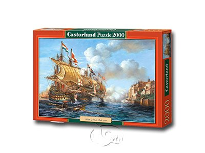 "【Castorland拼圖-2000片】1739年波爾圖貝洛戰役Copy of ?Battle of Porto Bello"", 1739"
