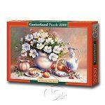 【Castorland拼圖-2000片】花卉靜物THE GUILDED VASE