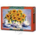 【Castorland拼圖-2000片】雅致向日葵Golden Blue