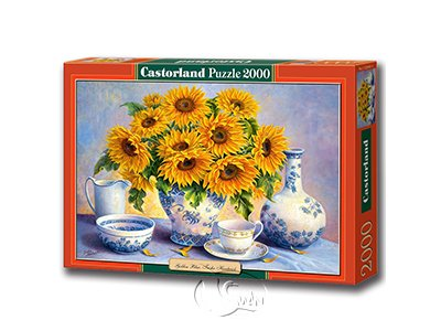 【Castorland拼圖-2000片】雅致向日葵Golden Blue, Trisha Hardwick