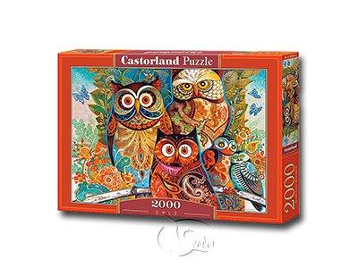 【Castorland拼圖-2000片】彩繪貓頭鷹家族Owls