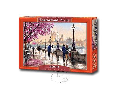 【Castorland拼圖-2000片】春日河畔漫步Along the River
