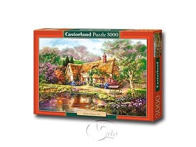 【Castorland拼圖-3000片】山中歲月/湖泊小屋Twilight at Woodgreen Pond
