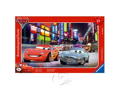 【Ravensburger-兒童紙板拼圖-15片】CARS 2:日本競速Disney Cars: Race in Japan
