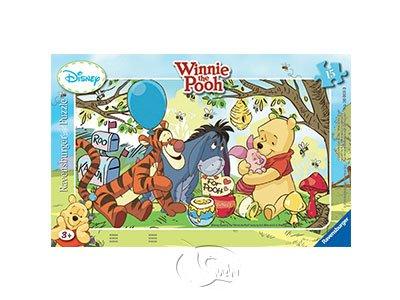 【Ravensburger-兒童紙板拼圖-15片】小熊維尼的蜂蜜派對Winnies Honey Party
