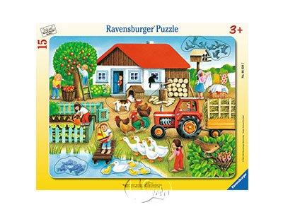 【Ravensburger-兒童紙板拼圖-15片】這些東西屬於哪裡?Where To Put?