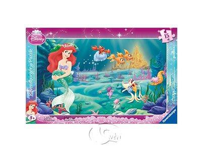 【Ravensburger-兒童紙板拼圖-15片】小美人魚的世界Disney The Little Mermaid: World of Arielle