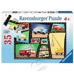 【Ravensburger拼圖-35片】工程車集錦Tires & Engines