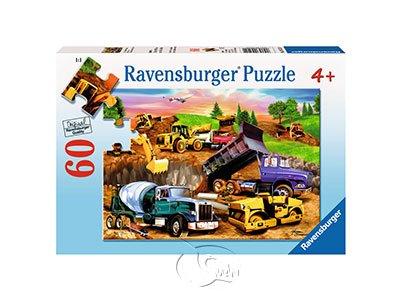 【Ravensburger拼圖-60片】工程車的作業Construction Crowd