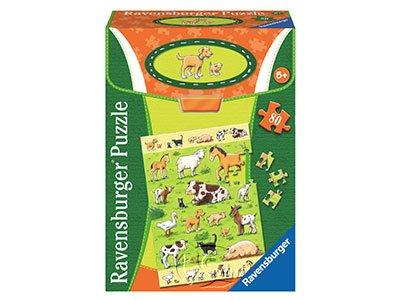 【Ravensburger拼圖-80片】動物與他們的寶寶Animals & their Babies
