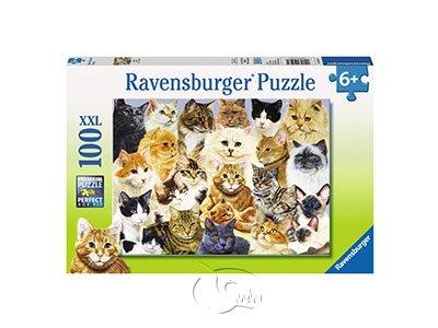 【Ravensburger-大拼片拼圖-100XXL片】驕傲的貓咪Cat Pride