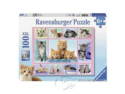 【Ravensburger-大拼片拼圖-100XXL片】可愛貓咪集錦Cute Kittens