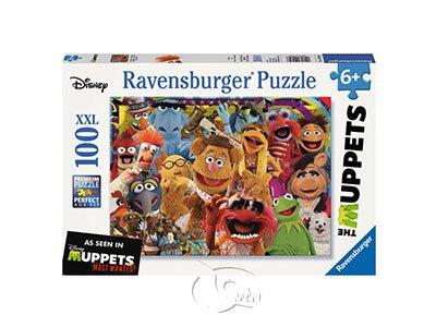 【Ravensburger-大拼片拼圖-100XXL片】芝麻街:大青蛙布偶劇團The Muppets