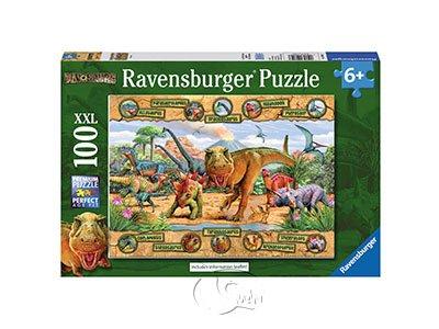 【Ravensburger-大拼片拼圖-100XXL片】恐龍圖鑑Dinosaurs