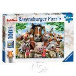 【Ravensburger-大拼片拼圖-100XXL片】農場動物的自拍Farmyard Selfies!