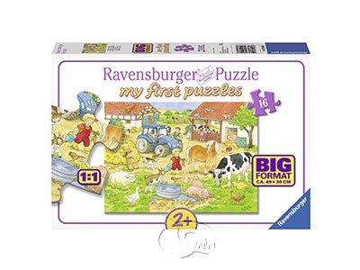 【Ravensburger-地板拼圖-16片】農場的動物們My Farm Animals