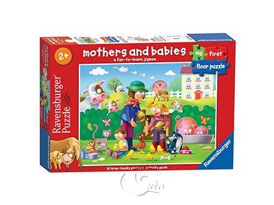 【Ravensburger-地板拼圖-16片】媽媽與寶貝們Mothers & Babies