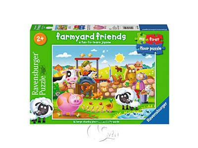【Ravensburger-地板拼圖-16片】農場好朋友Farmyard Friends