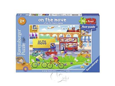 【Ravensburger-地板拼圖-16片】乘坐交通工具 On the Move