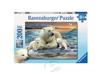 【Ravensburger-大拼片拼圖-200XXL片】北極熊與寶寶Polar Bears