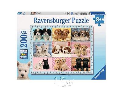 【Ravensburger-大拼片拼圖-200XXL片】可愛小狗集錦Perfect Pups