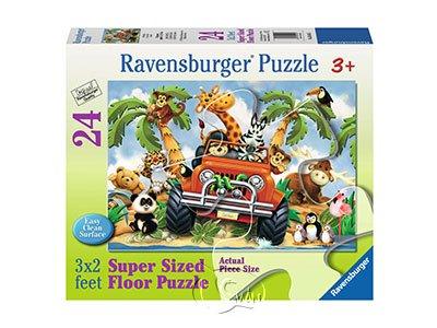 【Ravensburger-地板拼圖-24片】一起去兜風4 Wheeling