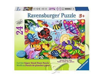 【Ravensburger-地板拼圖-24片】可愛的昆蟲們Cute Bugs