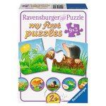 【Ravensburger拼圖-2x9片】【我的第一幅拼圖】花園小動物My first Puzzle - Garden Animals