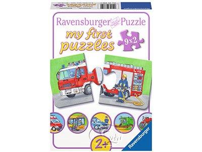 【Ravensburger拼圖-2x9片】【我的第一幅拼圖】交通工具My first Puzzle - Motorized Vehicles