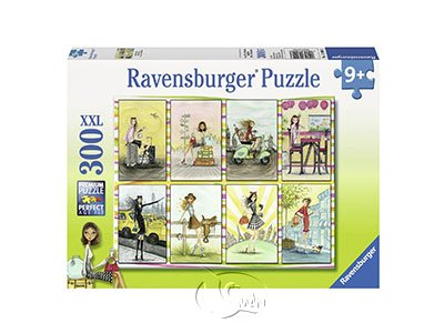 【Ravensburger-大拼片拼圖-300XXL片】女孩的八種時尚Dziewczyny Belli