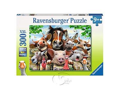 【Ravensburger-大拼片拼圖-300XXL片】微笑動物自拍Say cheese!
