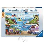 【Ravensburger拼圖-500片】可愛的海邊城鎮Lovely Seaside