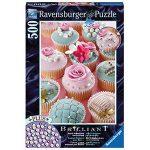 【Ravensburger拼圖-500片】珍珠杯子蛋糕Cupcakes with Beads
