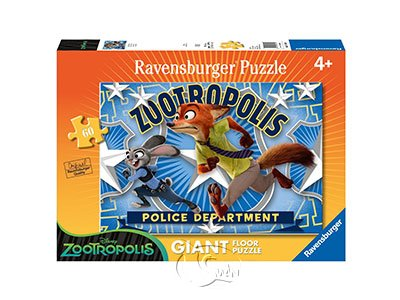 【Ravensburger-地板拼圖-60片】動物方程市:跑!Disney: Zootopia