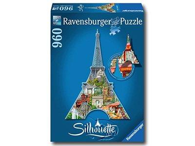 【Ravensburger-剪影系列拼圖-960片】埃菲爾鐵塔剪影Eiffel Tower