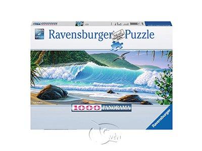 【Ravensburger-全景拼圖-1000片】海灘風情Christensen, S.: Catch a Wave